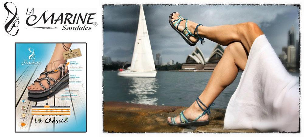 La Marine Sandals - The French Shoppe