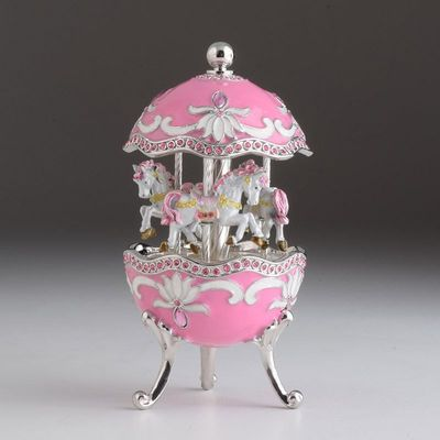 shop/hot-pink-carousel-egg-with-white-royal-horses.html