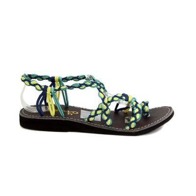 Sandals Lime For Braided The Green Shoppe In Women French YE92IWHD
